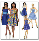 SEWING PATTERN Butterick B5457 Misses Fancy STRAPLESS PARTY PROM DRESSES
