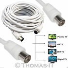 TV Coax Coaxial Digital Aerial Satellite Freeview Cable 1M 1.5M 2M 3M 5M 30M 50M