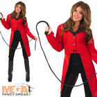 Red Circus Ringmaster Jacket Ladies Uniform Fancy Dress Costume Outfit UK 6-22