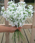 6 12 Baby's Breath White Artificial Silk Wedding Flowers Gypsophila Decor Jf374