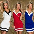 Womens Sexy Summer Dress Tops V-neck Sleeveless Sailor Style Mini Night Dresses