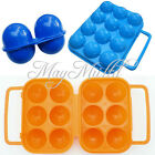 Outdoor Folding Plastic Carry 2/6/12 Eggs Box Case Outdoor Storage Container BG