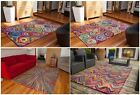 High End Hand Tufted Cotton Multi Coloured Rugs Luxury Quality Vibrant Rag Rugs