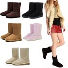 Lady Women Winter Warm Mid-calf Snow Boots Shoes 5 Colors 5 Sizes Ankle Shoes