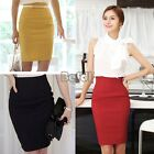 Vintage Hot Wome Lady Office High Waist Business Slim Tunic Stretch Pencil Skirt