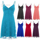 AG6 Womens Ladies Vintage Floral Mesh Lace Strappy Wrap Front Swing Mini Dress