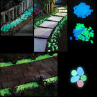 100Pcs Luminous Pebble Stone Lightweight Decoration Artificial For Fish Tank