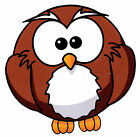 "5-8.5""  OWL ANIMAL BIRD WALL STICKER GLOSSY BORDER CHARACTER CUT OUT"