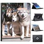 Siberian Huskies Dogs Folio Wallet Leather Case For iPad 2, 3 & 4