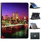 Brooklyn Bridge New York Illuminated At Night Leather Case For iPad 2, 3 & 4