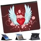 Angel Hearts Folio Wallet Leather Case For iPad 2, 3 & 4