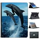 Dolphins Jumping Folio Wallet Leather Case For iPad 2, 3 & 4