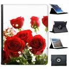 Just Roses Folio Wallet Leather Case For iPad 2, 3 & 4