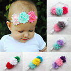 Trip Mix color Vintage Shabby Frayed Flower Hair Bands Skinny Baby Girl Headband