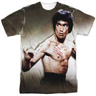 Bruce Lee Scratched Sublimation Poly Adult Shirt S-3XL