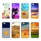 Sunset Beach Tropical Palm Trees Scenery Hard Case For iPhone 4s 5s/c 6 Plus