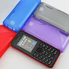 1x New S line Skidproof Gel skin Case cover For Nokia 108 DS