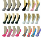 4 Pk Ladies Womens Girls Invisible Trainer Socks Footsies Shoe Liners Ballerina