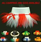 GIRLS CHEERLEADING FLAG TUTU - FOOTBALL RUGBY PAGEANT DANCE CARNIVAL FANCY DRESS