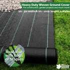 1m Wide Ground Cover, Landscape Fabric, Weed Membrane + Pegs or Staples