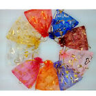 100pcs Wedding Jewellery Candy Tulle Pouch Bags Gift Bag Heart Package ZNS046