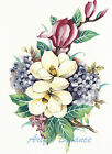 Ceramic Decals Magnolia and Pink/Purple Floral Bouquet image