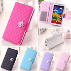 Luxury Leather  Durable Wallet Pouch Stand Cover Case For Samsung GalaxyS3 S4 S5