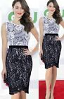 Elegant Womens Vintage Sleeveless Party Bodycon Crochet Lace Pencil Dress D775