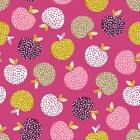 APPLES PINK - RETRO ORCHARD - DASHWOOD STUDIO COTTON FABRIC