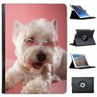 West Highland Terrier Westie Dog Folio Wallet Leather Case For iPad Air & Air 2