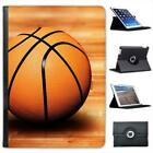 Basketball Sat On Wooden Court Floor Folio Leather Case For iPad Air & Air 2