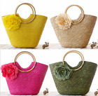 candy handmade straw knitted women handmade purse shoulder bag hobo handbag new