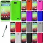 For LG Optimus L90 D415 Sillicone Soft Rubberized Case Phone Cover Stylus