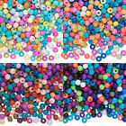 Lot of 300 Assorted Color Opaque Plastic Acrylic Little 4mm Round Mixed Beads