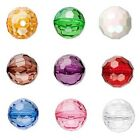 2 Big 20mm 3/4 inch Plastic Acrylic Faceted Round Beads with 3.3mm Hole