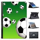 Bouncing Black & White Footballs Folio Leather Case For iPad Mini & Retina