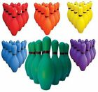 Ten Pin Bowling Pins & Ball Set - Various Colours Available.  Great Family Fun