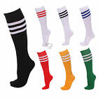 Athletic Stripes Sports Cheerleader Knee High Tube Socks Adult Stockings