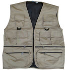 Mens Combat Army Military Waist Hunter Fishing Jacket Vest Desert Sand Khaki
