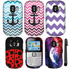 For Alcatel One Touch 871A Design PATTERN HARD Case Phone Cover Accessory + Pen