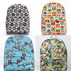 Cute OWL Printing Backpack Kids/Women Travel Bags Cartoon Canvas School Backpack