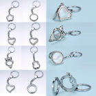 New Stainless Steel Living Floating Charms Memory Locket Keychain buckle Gifts