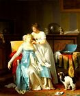 THE BAD NEWS LETTER WOMAN FAINTING 1804 PAINTING BY MARGUERITE GERARD REPRO