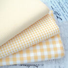 KENT 2 YELLOW YARN DYED GINGHAM - 9mm 3mm 1mm CHECK COTTON FABRIC bunting