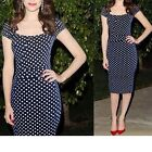 Retro Lady Short Sleeve Pinup Polka Dot Bodycon Party OL Cocktail Sexy Dress-Y