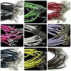 10 x Braided Bracelet Cords Plaited Jewellery Beading Cords Lobster Clasps ML