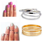 Women 10PCS Stack Plain Above Knuckle Band Midi Mid Tip Finger  Ring  Sz 4,6,8