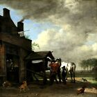 A FARRIER SHOP HORSE HOOF CARE DOG CHICKEN 1648 PAINTING BY PAULUS POTTER REPRO