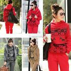 New 3 Colors Sports Hoodies Coat+Vest+Pants 3pcs Suit Tracksuit Womens Hooded