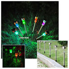 10/20/30/40 STAINLESS STEEL SOLAR POST  LIGHTS COLOUR CHANGING LED GARDEN LAMP